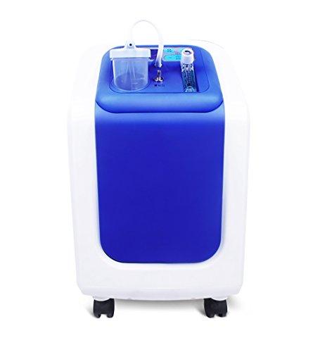 BJL Concentrador de oxígeno Concentrador de oxígeno: purificador de Aire portátil concentrador de oxígeno para el hogar, oxígeno Continuo, 1-5 l/min de Azul Ajustable OYO