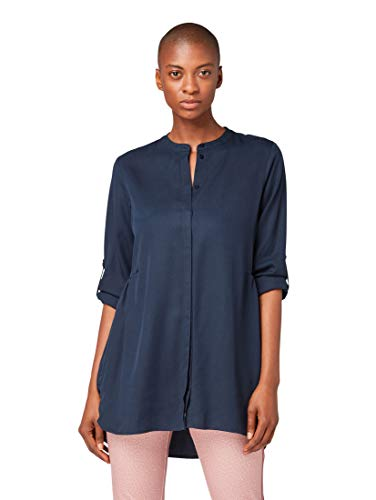 TOM TAILOR Damen Blusen, Shirts & Hemden Longbluse Sky Captain Blue,36