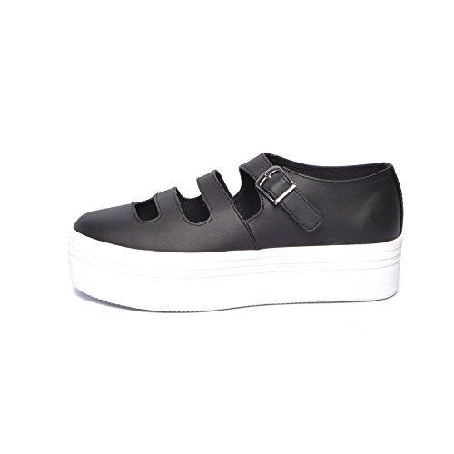 Sneaker Pelle Forata Nera - 36