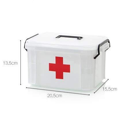 Best kwaliteit - opbergdozen & Bins - First aid kit medicijnkasthouder opbergbox multi-layer emergency kits cabinet security veiligheid home rangement organizer - by Stephanie - 1 pc S