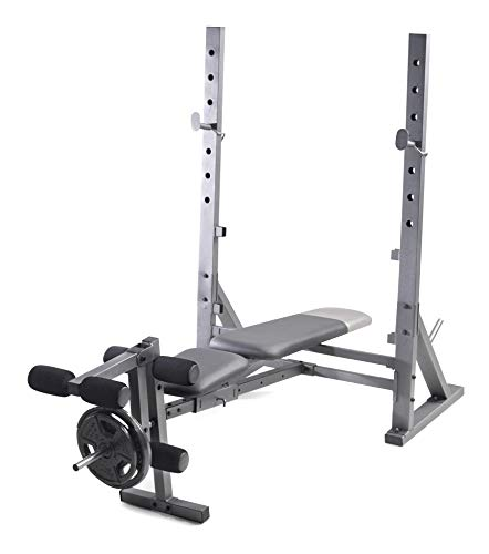 Weider XR 10.1 Olympic Weight Bench with Integrated Leg Developer and Weight Plate Storage