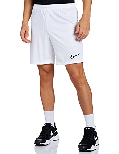 NIKE Dri-FIT Academy Pantalones Cortos De Fútbol, Hombre, Blanco/Blanco/Blanco/Negro, S