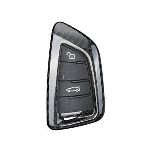 Piezas de automóviles Carcasa De Llave De Fibra De Carbono Real para BMW 1 3 5 7 Series X1 X3 X4 X5 X6 M3 M5 F20 F30 F10 E90 E60 E30 E46 E34 E70 Decoración (Color : A-Black)