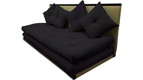 Futon On Line Tatami Sofa, Nero, 80x200 cm.