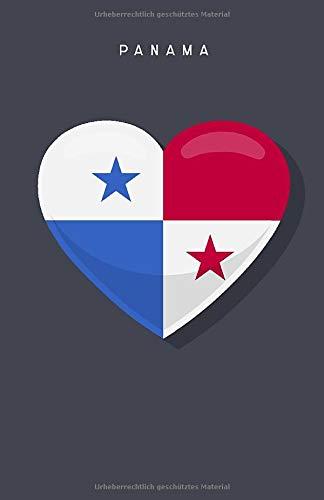 Panama - Reisetagebuch: Notizbuch   Flagge Panama   110 Seiten dotted line Punkteraster   ähnlich A5