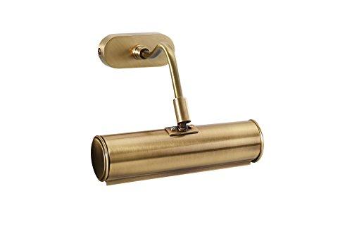 Bilderleuchte Messing Verstellbar Bronze 20cm E14 bis 40W Handarbeit Premium LED geeignet Bilderlampe Wandlampe