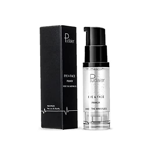 Budstfee 1bottle Magic Eye Primer Maquillaje Sombra de Ojos Base para prevenir Tapas aceitosas y comprimido Transparente Impermeable de Ojos Impermeable (8 ml)