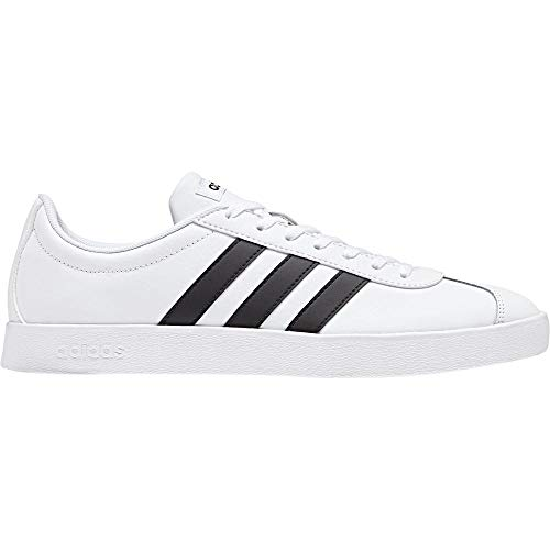 Adidas VL Court 2.0, Zapatillas para Hombre, Blanco (Footwear White/Core Black/Core Black 0), 43 1/3 EU
