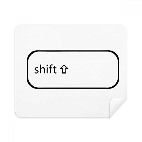 DIYthinker Tastatur Symbol Shift-Phone Screen Cleaner Gläser Reinigungstuch 2Pcs Suede Fabric