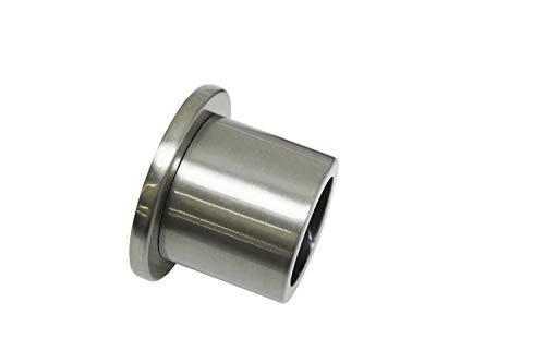 Gardinia Supporto da Parete per Ø 25 mm, Effetto Acciaio Inox 2