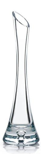 Garbanzo-Shop, Vase aus Glas Höhe 30cm, standfest, für Einzelblumen (Rosen) und Kleine Gebinde, schöne Dekoration für jeden Tisch,
