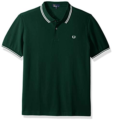 Fred Perry Twin Tipped Shirt, Polo Uomo, Verde (Green (IVY)), X-Small