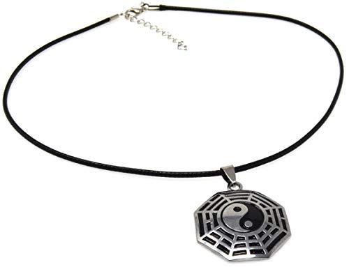 Geëmailleerd yin yang ying yan tao charme Hanger Ketting Retro Choker ketting yin yang
