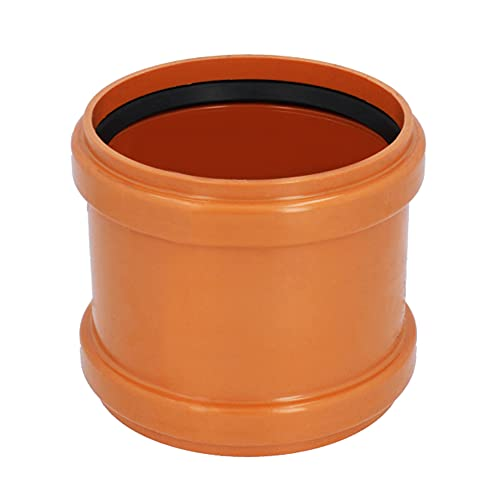 KG Rohr Überschiebmuffe Ø DN 200 mm Länge 165 mm Orangebraun   PP PVC Muffe Mit 2 Gummidichtringen   Kanalrohrsystem Abwasserrohr Doppelmuffe Chemische Beständigkeit   Abwasser Installation