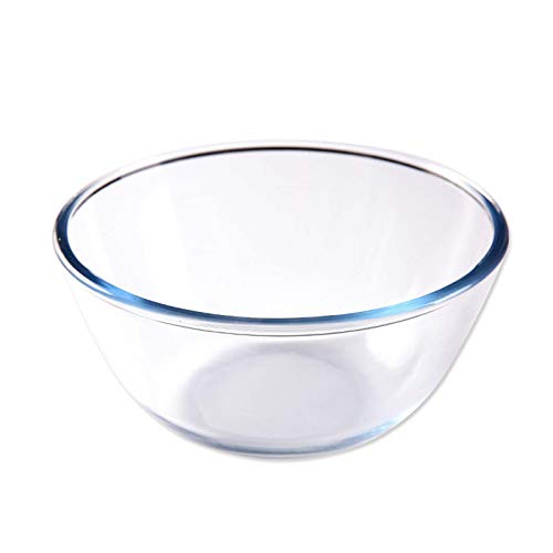 WYOUTDOOR Glass Mixing Bowls Clear Bowl Stackable Prep Bowls, Dishwasher, Freezer and Oven Safe Salad Bowl, Easy to Clean and Store,2.7L