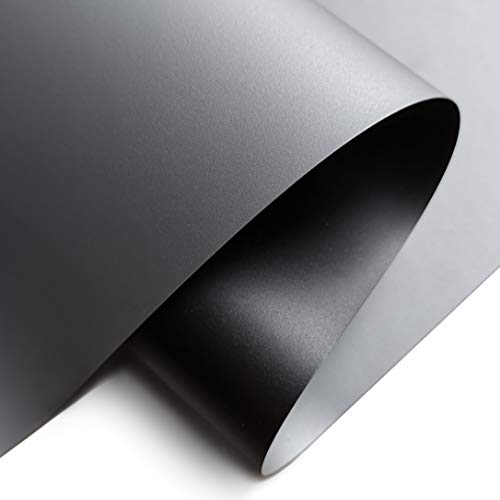 Projector Screen Material Fabric 67x110 inch for Max 120 inch 16:9 Projection Screen DIY High Contrast Ambient Light Rejecting Black Backing 4K Ultra HD Front Projection EPPE Material (Grey)