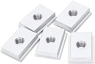 Lkjh 5Pcs M8 T-Track Slider glijmoer Aluminium T Slot Nut for Houtbewerking Tool Jigs Screw Slot Fastener (Color : Silver)