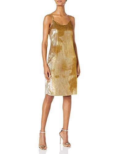 Cynthia Rowley Women's Gold Lame Slip Dress, 0