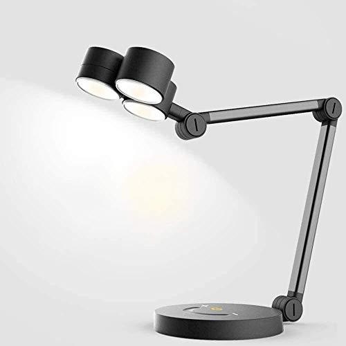 Lámpara de escritorio Lámpara táctil, lámpara con interruptor de atenuación, lámpara de mesa con gatillo, control de sensor táctil, lámpara de mesa con brazo oscilante, intensidad ajustable, sala de e