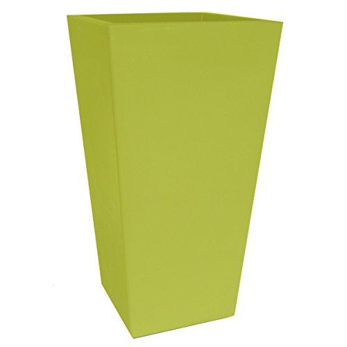 Pot de fleur intérieur & extérieur - L.30cm x l.30cm x H.58cm - Couleur PISTACHE (vert)