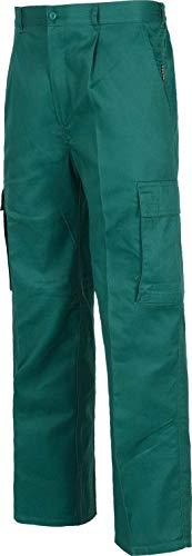 Pantalon multibolsillo Trabajo B1430 verde (48, VERDE)