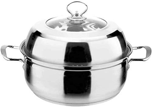 HIGHKAS Edelstahltopf Einschichtige Mehrzweck-Suppendampfer-Suppe Dämpfender Mehrzweck-Topf Haushaltspfanne -28 cm