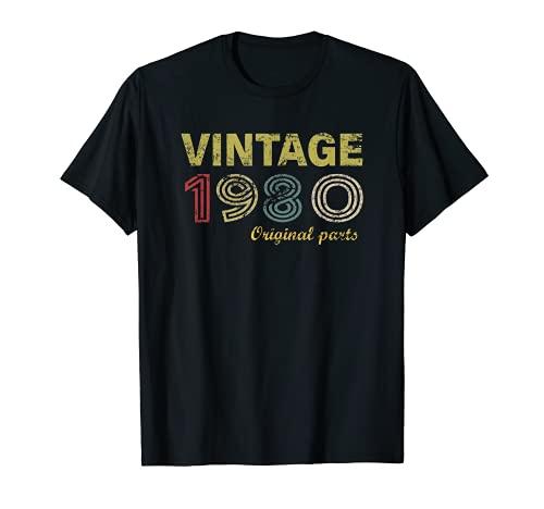 Vintage 1980 41 Años Regalo 41 cumpleaños Hombre Mujer Camiseta