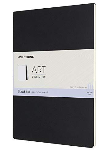 Moleskine Art Sketch Pad, Soft Cover, A4 (8.25' x 11.75') Plain/Blank, Black, 48 Pages (8058647626857)