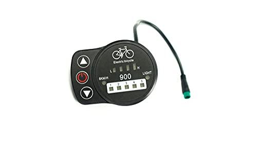 meilen:weit   Display KT-LED900, Waterproof, Julet 5 Pin, Bordcomputer, LED-Display, E-Bike, Elektrisches Fahrrad, Pedelec, 24V/36V/48V