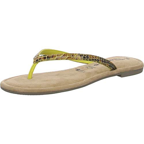 Tamaris Damen 1-1-27124-24 Pantoletten, Gelb (Sun Snake Uni 624), 38 EU