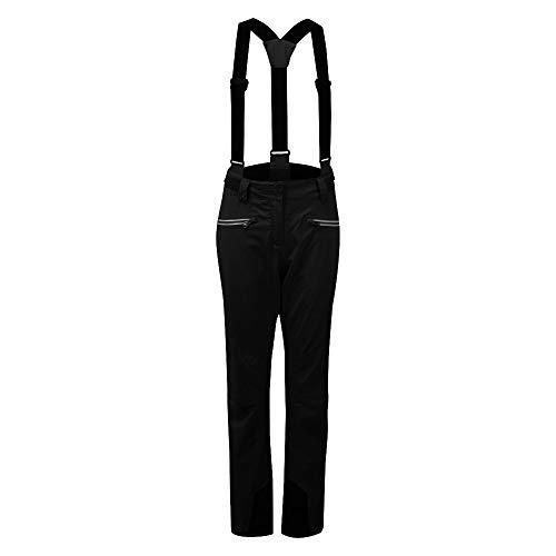 Dare 2B Antedate II Pantalon De Ski Imperméable Respirant avec Coutures Cousues-collées, Bretelles Détachables Et Guêtres Intégrées, Pants Donna, Nero, FR : 2XL (Taille Fabricant : 18)