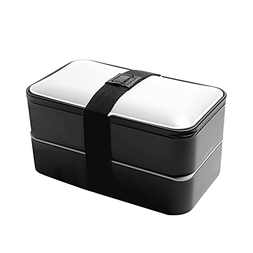 LITINGT Fiambrera para microondas de Doble Capa Cajas Bento rectangulares Contenedor de Comida Compartimento Anti escaldado Caja de Almacenamiento de PP con Sello