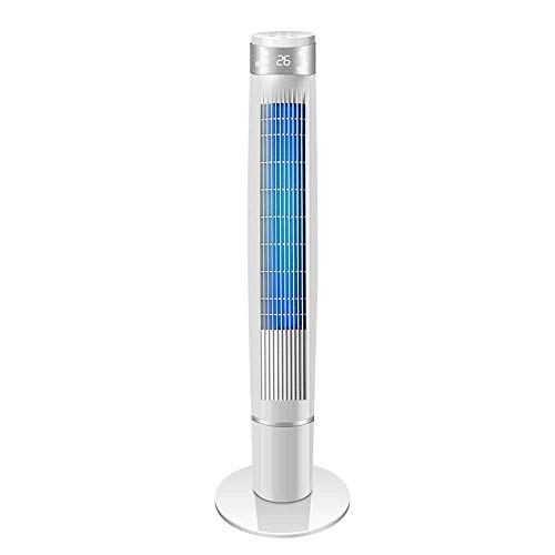 YYhkeby Acondicionadores de Aire Ventilador eléctrico Torre de Torre Torre de Control Remoto Piso de Tiempo Fan Shaking Head Silent Fan Vertical Leafless F Jialele