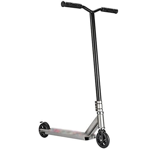 Patinete Fun Scooter Vespa De Lujo del Retroceso De 2 Ruedas, Vespa del Truco De La Aptitud De Los Hombres, Scooter De Carreras Profesional (Color : Gray, Size : 65 * 52 * 85cm)