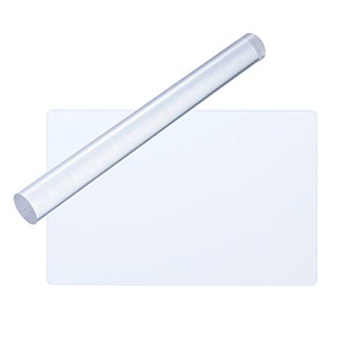 rosenice 2 stücke Acryl Ton Roller Rechteck Acryl Blatt Bord mit Grid Wesentliche Modellierung Ton Werkzeuge