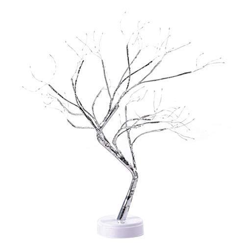 Nrkin Árbol LED para iluminación interior, decoración de Navidad, con ramas, funciona con pilas