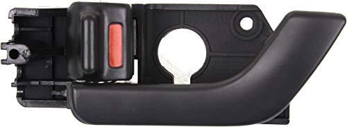 Interior Front Door Handle Compatible with HYUNDAI TIBURON 2003-2008 LH Black Plastic+Metal