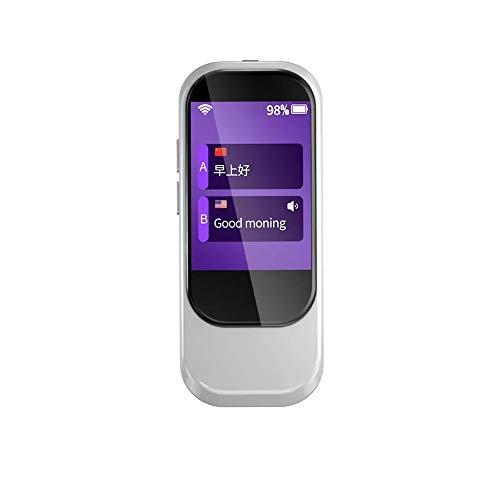KYL 2,4-Zoll Tragbarer Touch Screen Language Translator Gerät - Unterstützung 28 Sprachen WiFi & 4G intelligente Echtzeit Instant-Voice-Translation, Rot