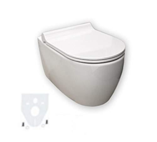 Geberit iCon Wand-WC spülrandlos, weiß, LotusClean Beschichtung, kpl. Set
