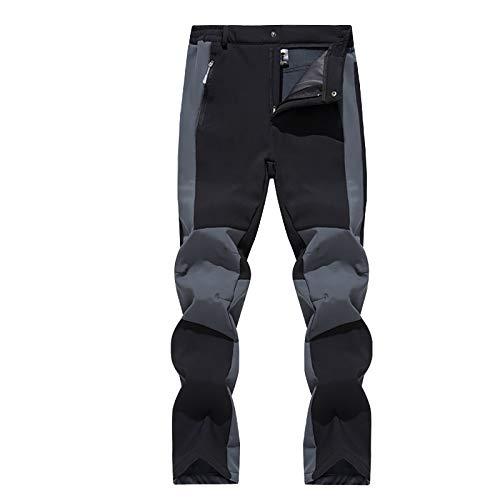 VRTUR Outdoorhose Damen Leichte Trekkinghose Dünne atmungsaktive schnell Outdoor-Wanderhose Mit Gürtel(Schwarz,XXL)