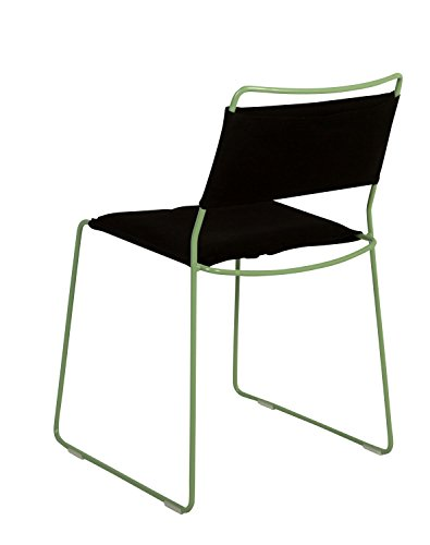 OK Design One Wire Chaise Vert – Noir – 2R – Dépliable, Rolff OG Rasmus Fasting