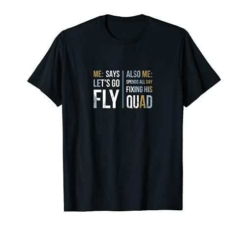 Hombre Dron divertido vista en primera persona para un piloto de carreras FPV Camiseta