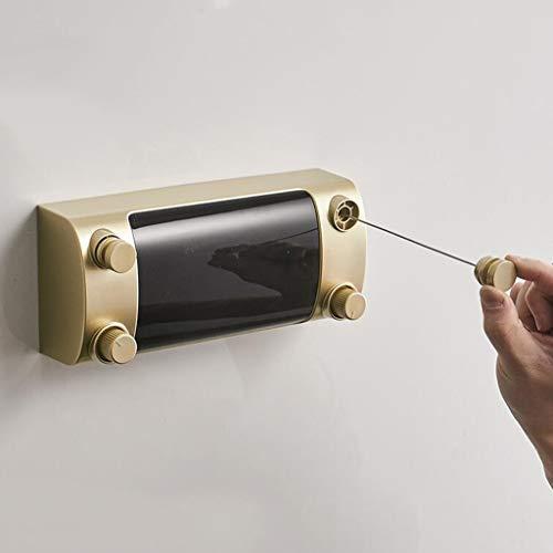 Tendedero Retractil Ajustable Telescópica Línea Doble Punch Free 4.2M Película De Plástico Nano Alambre De Acero Balcón Baño Rack De Secado Línea De Retráctil (Color : B)