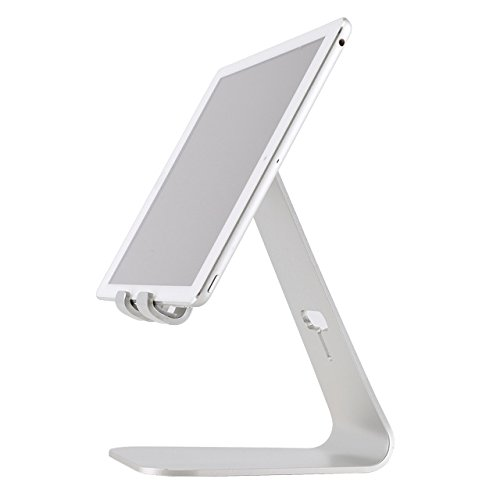 2 PC Tablette Stand Table De Lit Bureau D'ordinateur Pliable Ergonomique Universel Paresseux Portable Socle En Aluminium Pour Ipad Air Pro, Silver,Silver