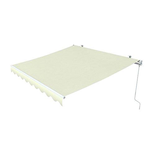 paramondo Gelenkarmmarkise Easy Balkonmarkise Sonnenschutz Terrasse, Kurbelbedienung, 2,5 x 2 m (Breite x Ausfall), Uni Hellbeige