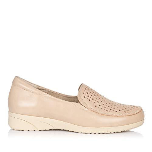 PITILLOS 2912 Zapato Mocasin Piel Mujer Crema 37