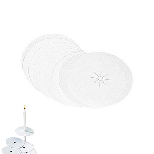 D'light Online Drip Protector - 100 Paper Bobeche Candle Holder for Candlelight Vigil, Church Service, Church Mass, Memorial Service and Devotional Candles (Set of 100)