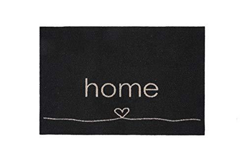 Bavaria Home Style Collection – rutschfeste Fotodruck Fußmatte für den Innenbereich | 40 x 60 cm | Motiv: Home Herz