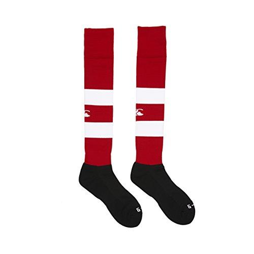 Canterbury Herren Bekleidung Gummi Spielsocken Rugby Socken Flaggen Rot S (Youth)