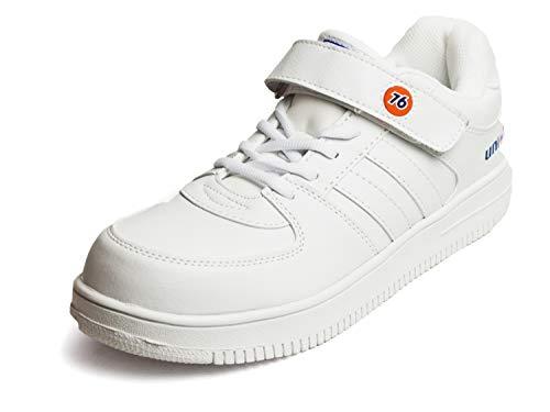 76 Lubricants(76ルブリカンツ) 安全靴 作業靴 セーフティシューズ 幅広 3E マジックテープ 先芯入り 鉄先芯 通気性 スニーカー シューズ メンズ 靴 ホワイト 28cm